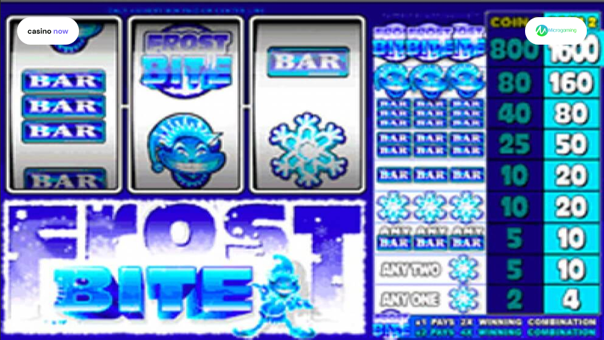 Frost Bite, Microgaming, RTP , Max Bet , Min Bet