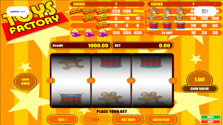 Toys Factory, B3W Group, RTP , Max Bet , Min Bet